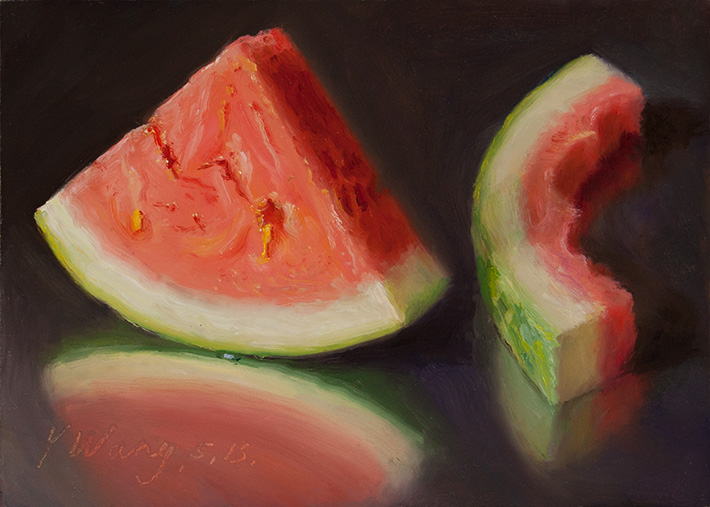 wang fine art watermelon daily painting a painting a