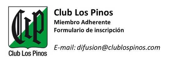 Club Los Pinos - Formulario Miembro Adherente