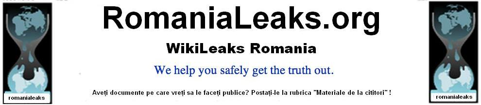 WikiLeaks Romania Romanialeaks.org