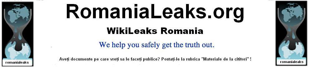 WikiLeaks Romania Romanialeaks.org