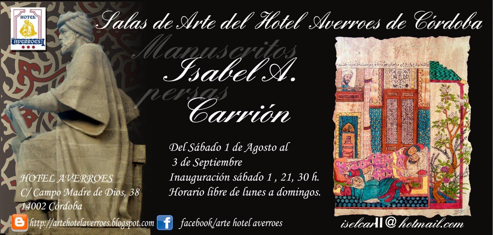 Exposición de manuscritos persas de Isabel A. Carrión.