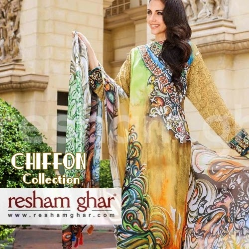 Resham Ghar Chiffon Eid Collection-2014