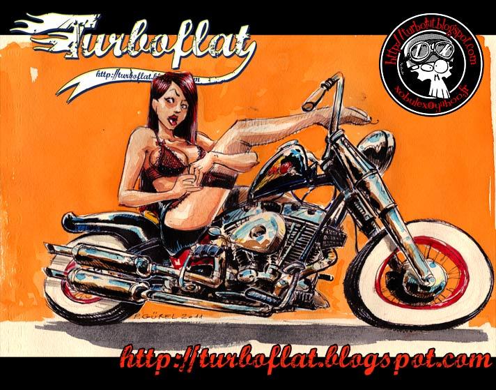 Old Harley-Davidson Bobber