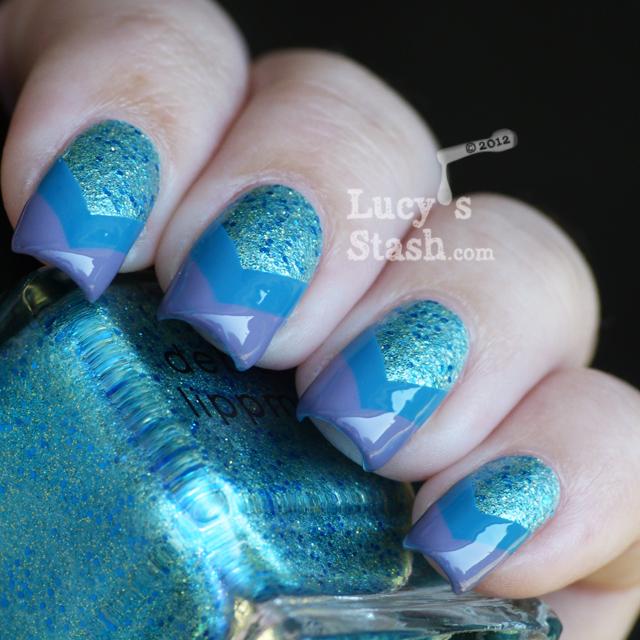 Lucy's Stash - Chevron Nail Art