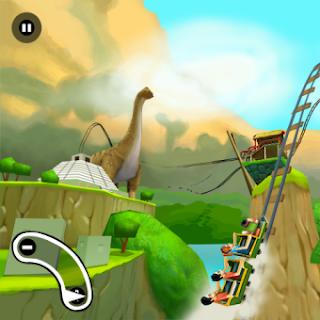 3D Rollercoaster Rush Jurassic 2 v2.0.4 for BlackBerry