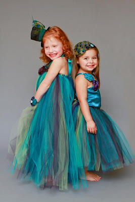 Peacock wedding ideas and supplies for peacock wedding flower girls