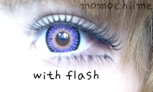 Kimchi Bambi Violet colored contacts