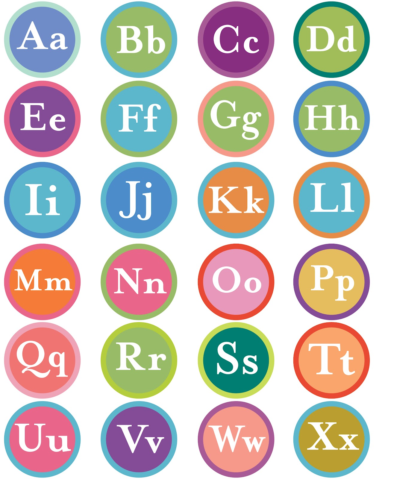 family:related: alphabet cupcake toppers