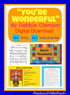"""You're Wonderful"" Digital Download by Debbie Clement"
