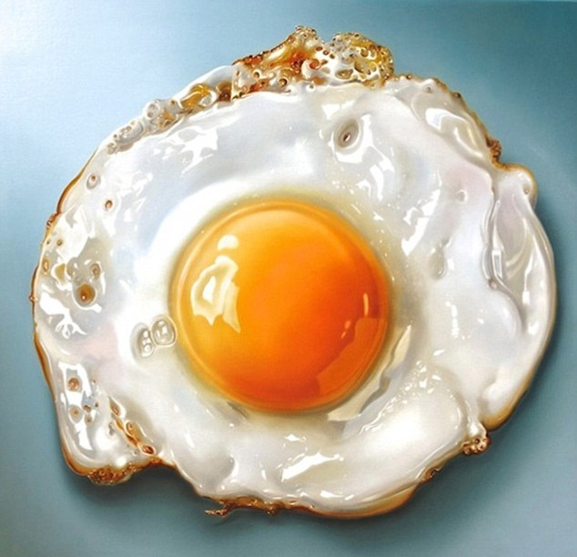 hyper realistic of food paintings