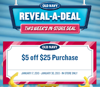 Old Navy $5 Off a $25 Purchase – Printable Coupon