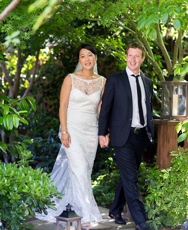 Mark Zuckerberg Marriage Pictures