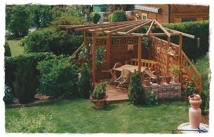 Shabby Landhaus: Vorher-Nacher ..Garten/Laube ..