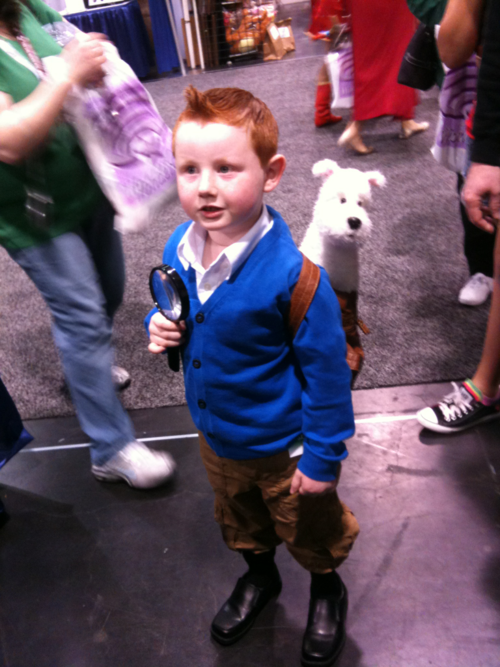 Mini Tintin na WonderCon 2012