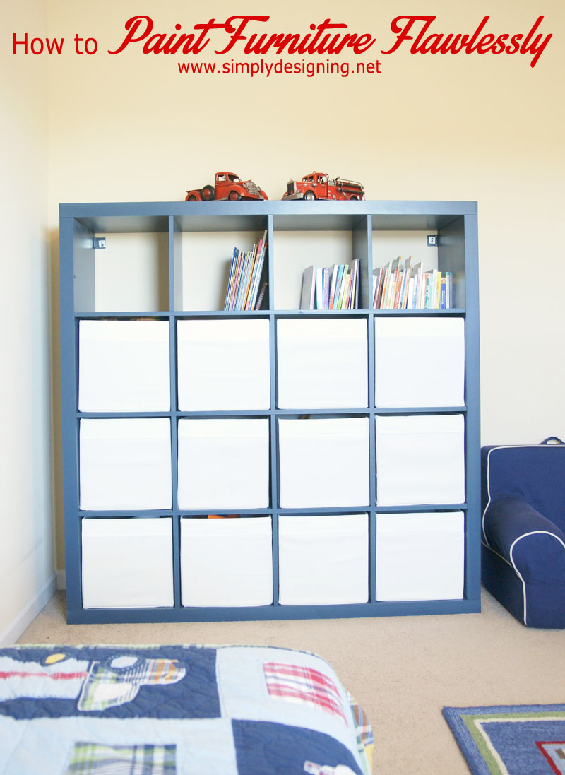 Blue Painted Bookcase + a Giveaway | how to paint furniture and get a smooth finish + a giveaway of my favorite painting tool | #diy #painting #giveaway