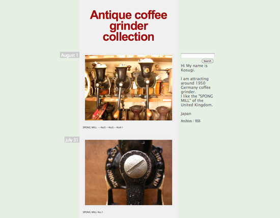 Antique coffee grinder collection
