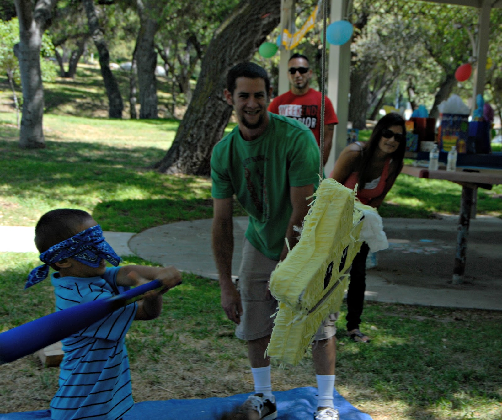 Taking a swing at the Pinata