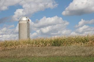lone silo in a field