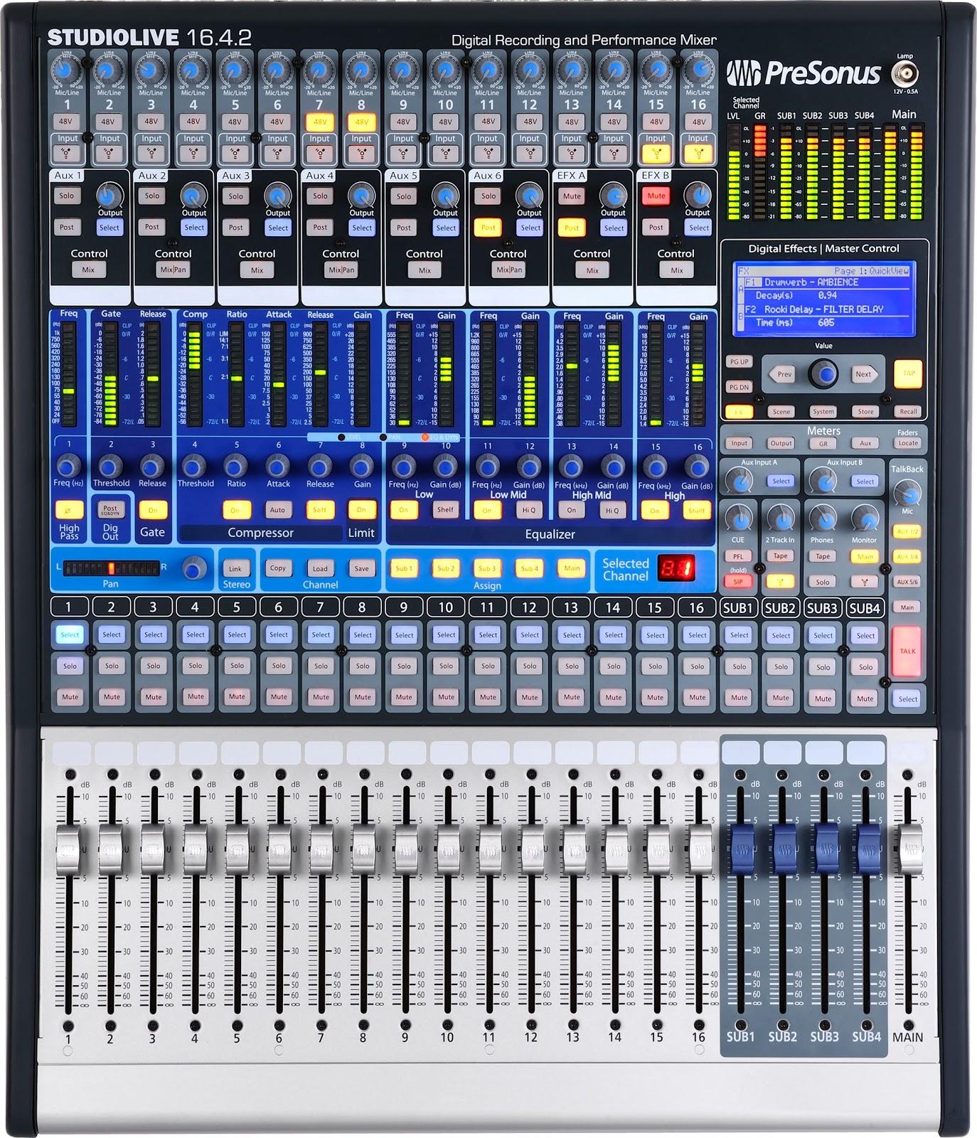 PreSonus StudioLive 16 4 2 Digital Mixer