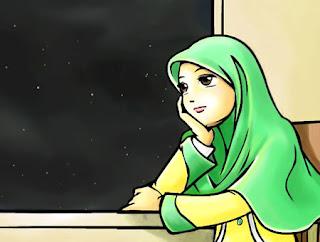 kartun muslimah bertudung