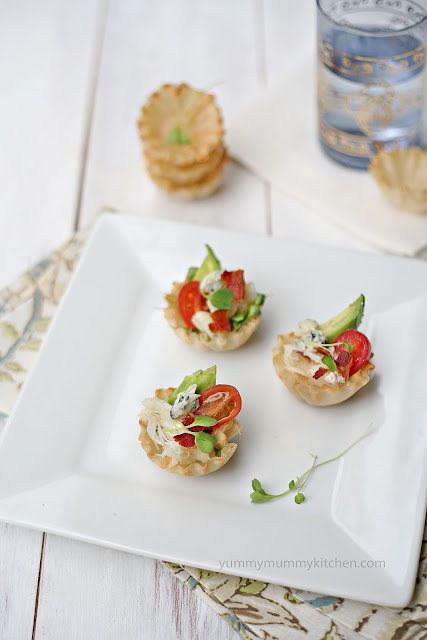 From the fisherman 39 s market to crab cobb salad cups for How to make canape shells at home
