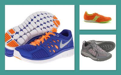 Nike, Saucony, Teva