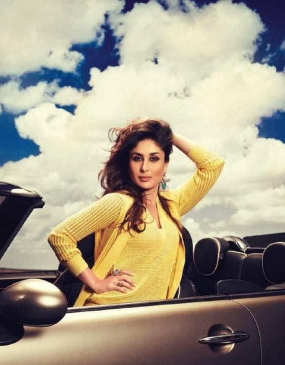 Kareena Kapoor hot in yellow skirt milky boobs exposed