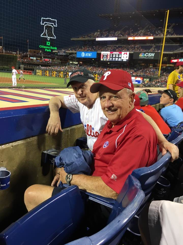 Ron and his brother Tom at the ballgame.