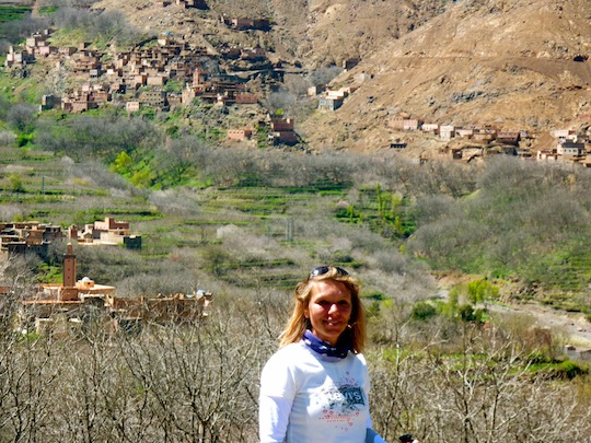 Atlas trekking through Berber villages