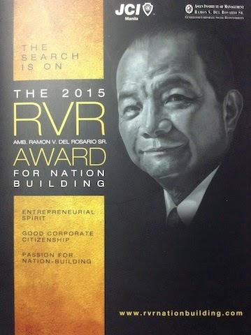 JCI Manila Launches the 6th Ramon V. del Rosario (RVR) Award for Nation Building