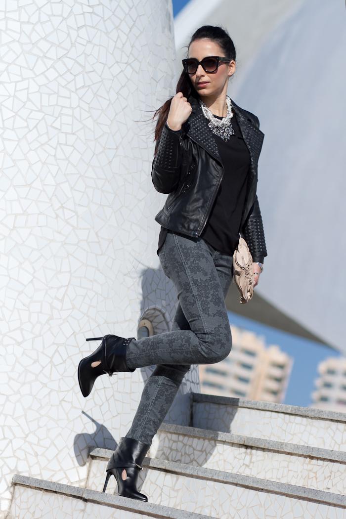 Jeans Gris estampado encaje modelo EMMA G2902 B-SIDE de MELTIN' POT