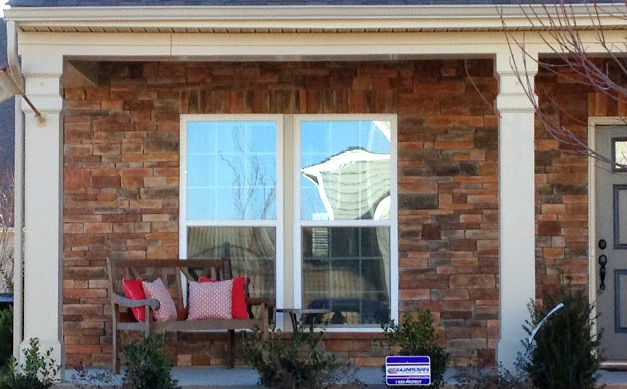 ryan homes porch elevation arizona stone beige cream trim
