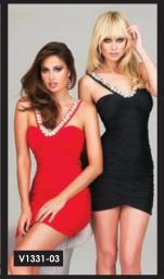 Colección Vestidos de NocheVieja color rojo y negro