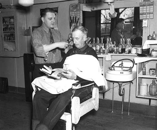Barber Shop Minneapolis : ... Publishing During WWII: Minnesotas Remote Library Program, circa 1940
