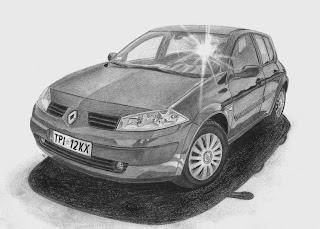 Renault Megane II rysunek drawing