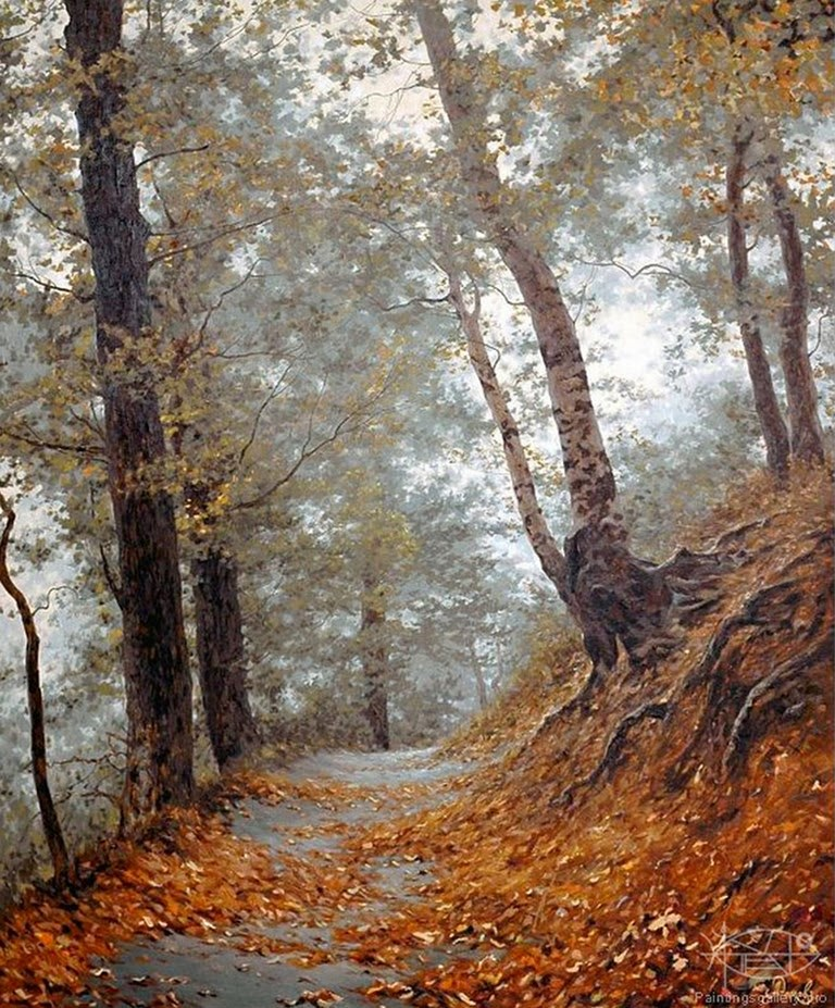 Cuadros hiperrealistas de paisajes naturales pintados al for Cuadros pintados al oleo