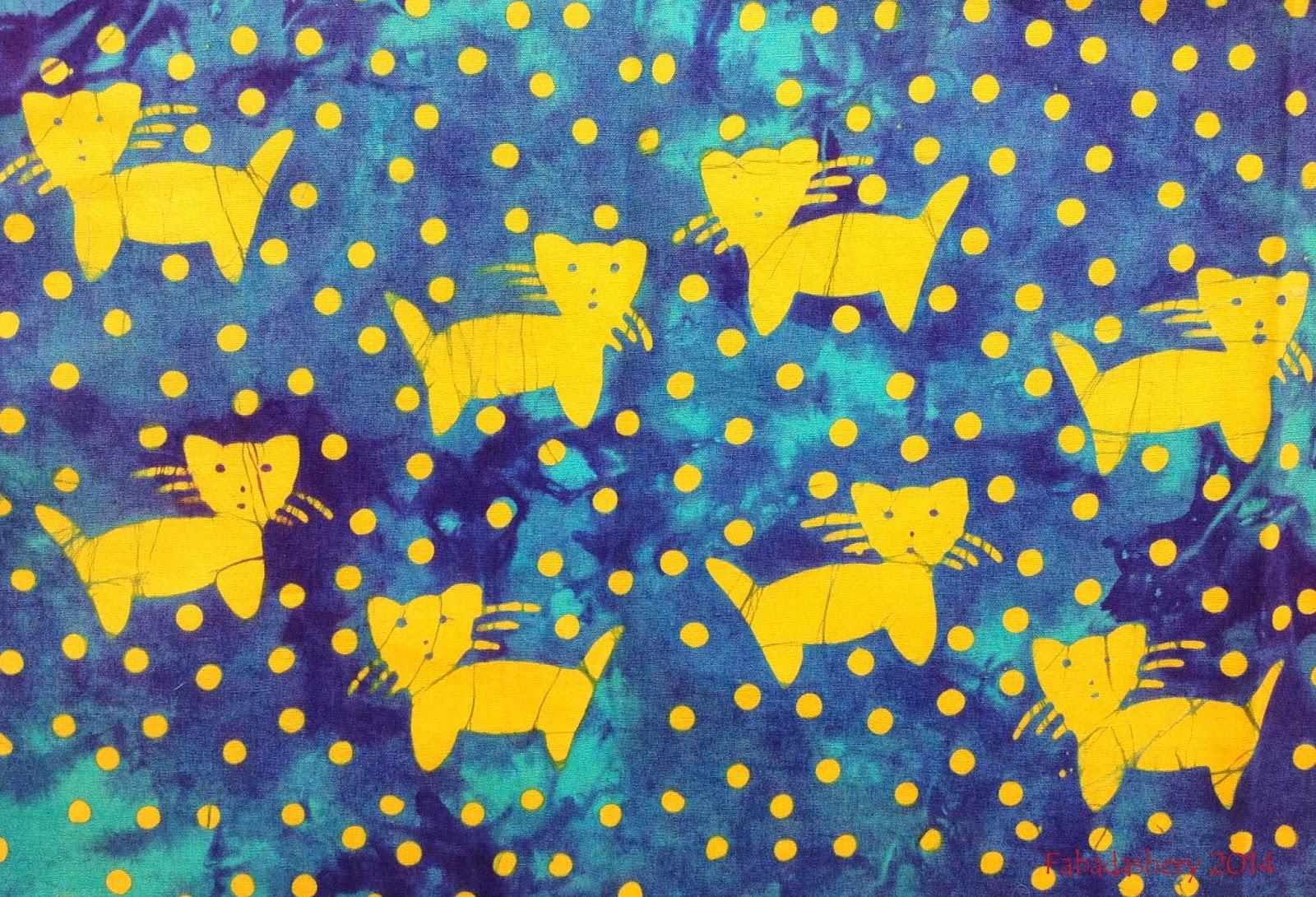Cat Batik Fabric