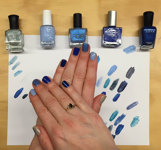 My 2014 in nails, #ManiMonday, Mani Monday, manicure, nails, nail polish, nail lacquer, nail varnish, Hanukkah blue ombre nail art