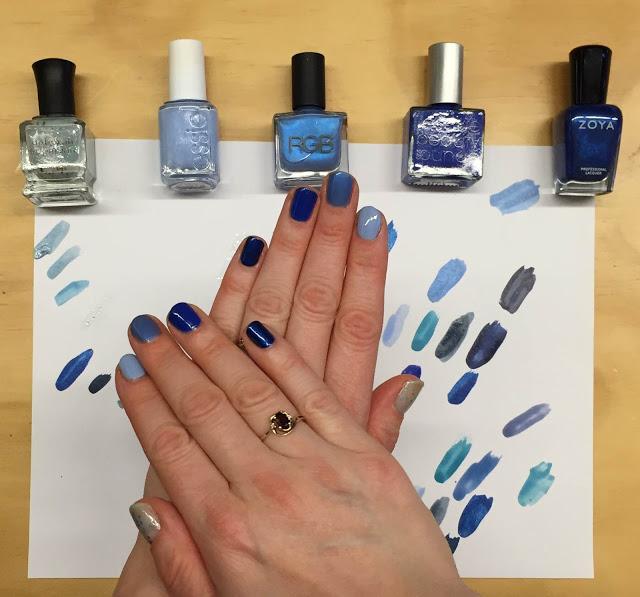 My 2014 in nails, #ManiMonday, Mani Monday, manicure, nails, nail polish, nail lacquer, nail varnish, Hanukkah blue ombre nail art