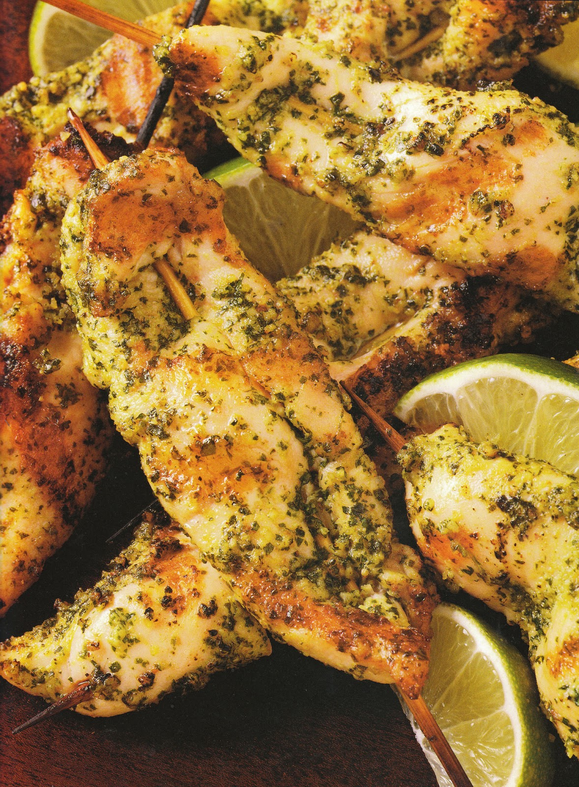 Our Sweet Lemons: Cilantro Pesto Chicken Tenders