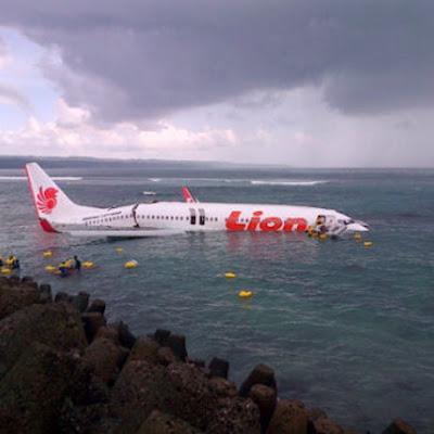 Foto Pesawat Lion Air Jatuh di Bali