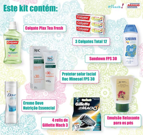 SORTEIO: Kit de cuidados com o corpo - Drogaria Araújo