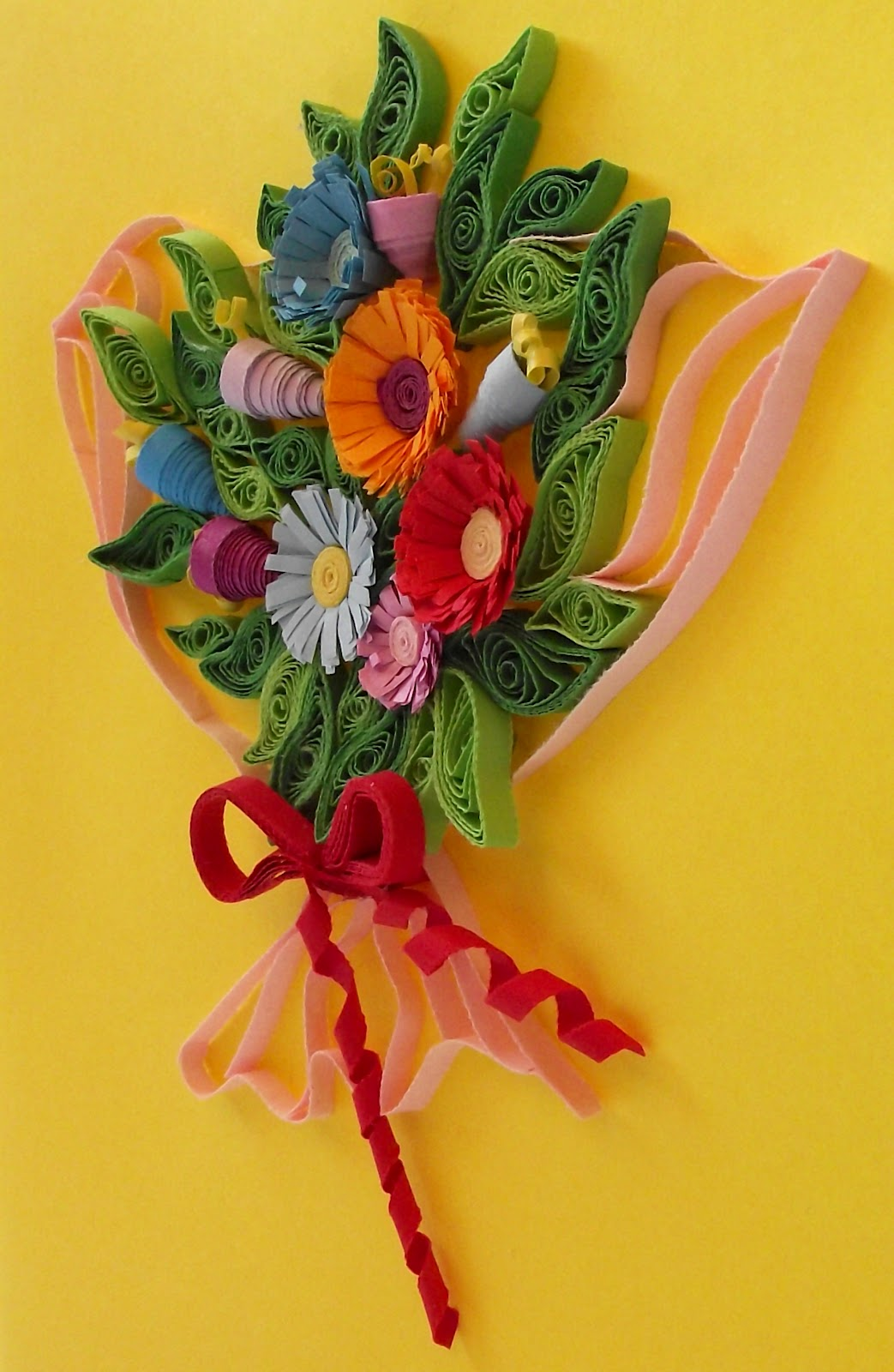 Paper Quilling Flower Bouquet Kubreforic