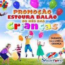 Promoção Estoura Balão na Loja Sharlom de Tutóia