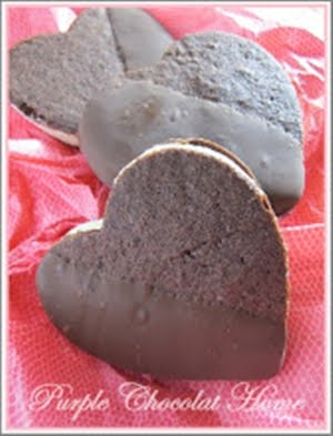 Chocolate Dipped Ice Cream Heart Sandwiches