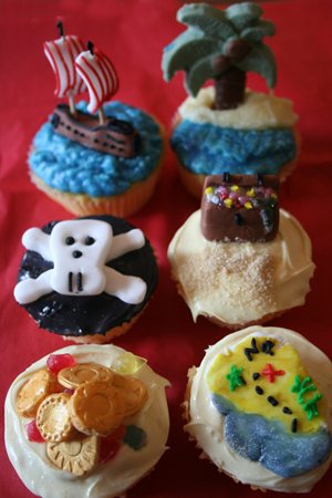 Birthday Cake Pirate Cupcakes
