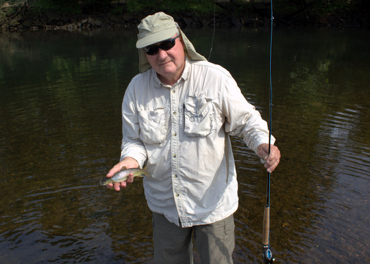 Fly fishing the Caney Fork brown trout