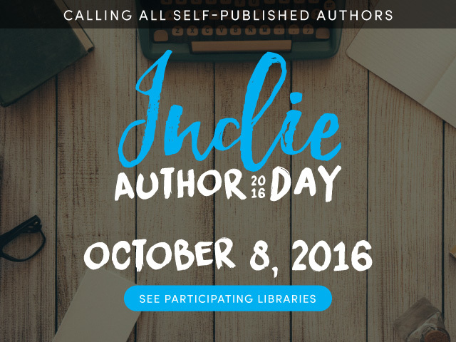 Indie Author Day - October 8, 2016