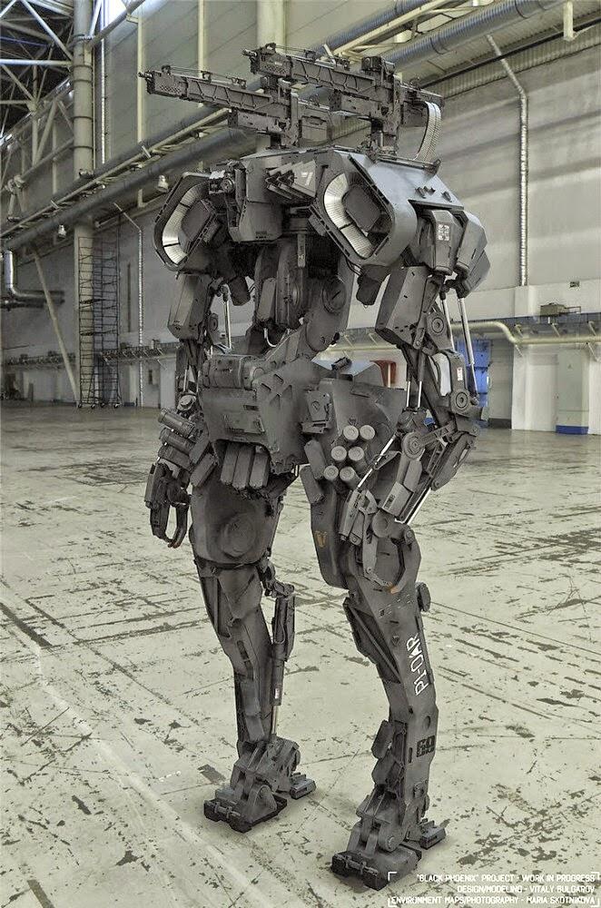 robot perang masa depan
