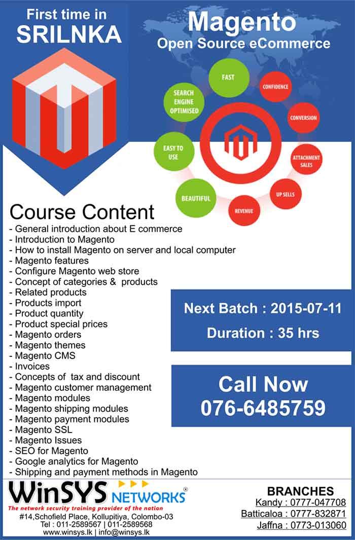 Magento Training Course.